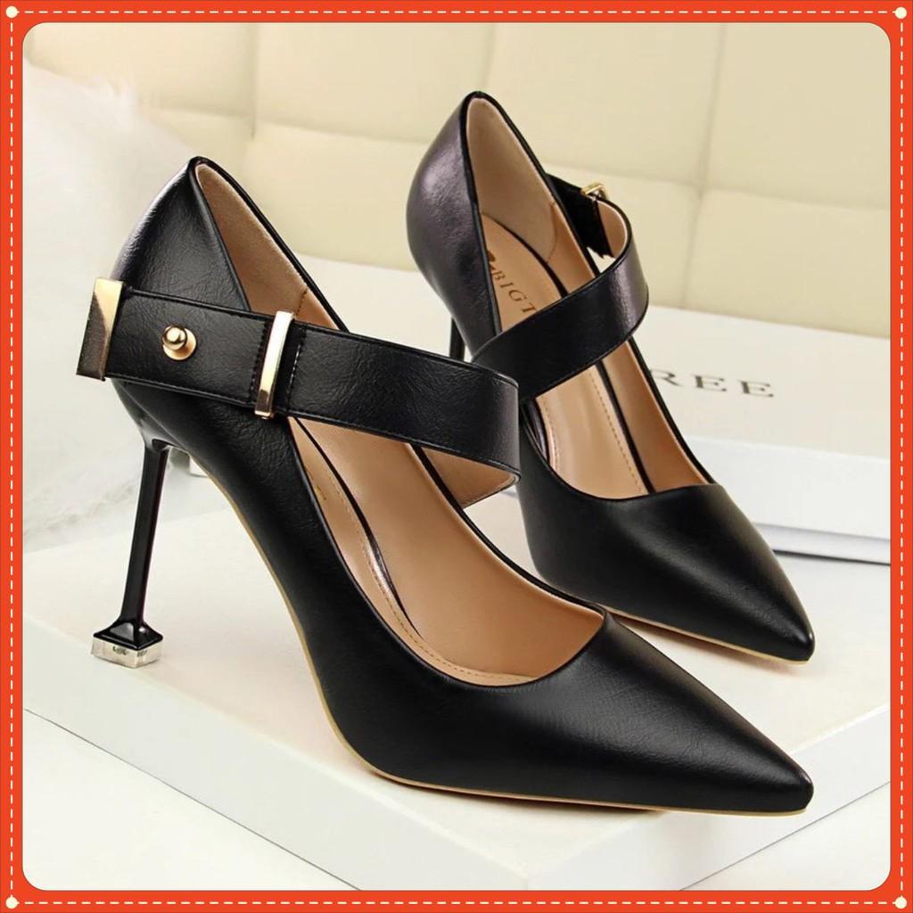 Giày cao gót hàng hiệu, mũi nhọn, gót nhọn cao 8cm C39 VIETLAVANI