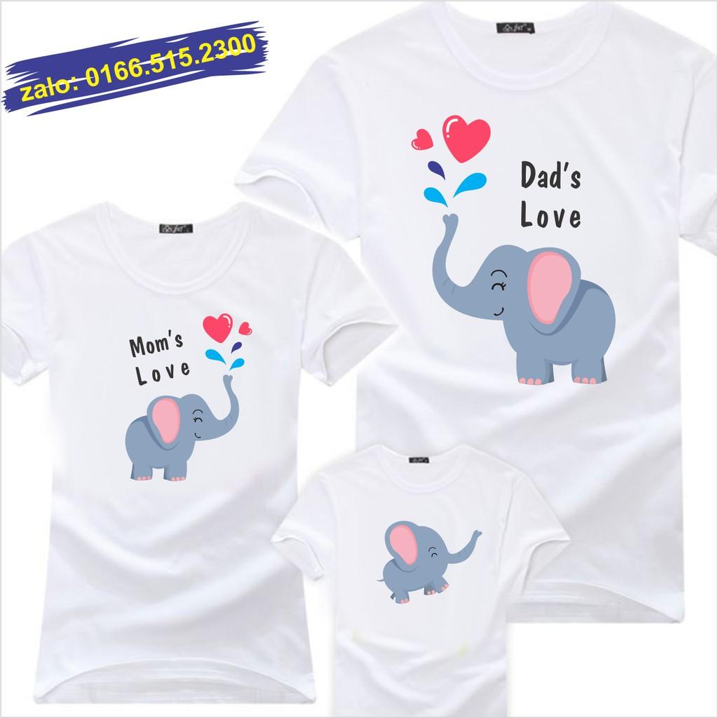 Áo gia đình hình con voi