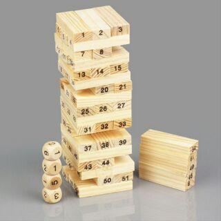 Bộ rút gỗ 48 thanh có 4 xúc xắc