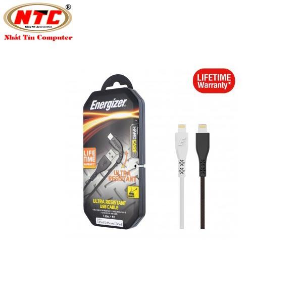 Cáp sạc Lightning Siêu Bền Energizer 1.2m C41UBLIGBKM - Bảo hành trọn đời - Hãng phân phối chính thứ