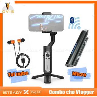 [BH 1 ĐỔI 1] Tay Cầm Chống Rung (Gimbal) Hohem ISteady X Vlogger Kit Tích Hợp Micro Không Dây Cho Smartphone thumbnail