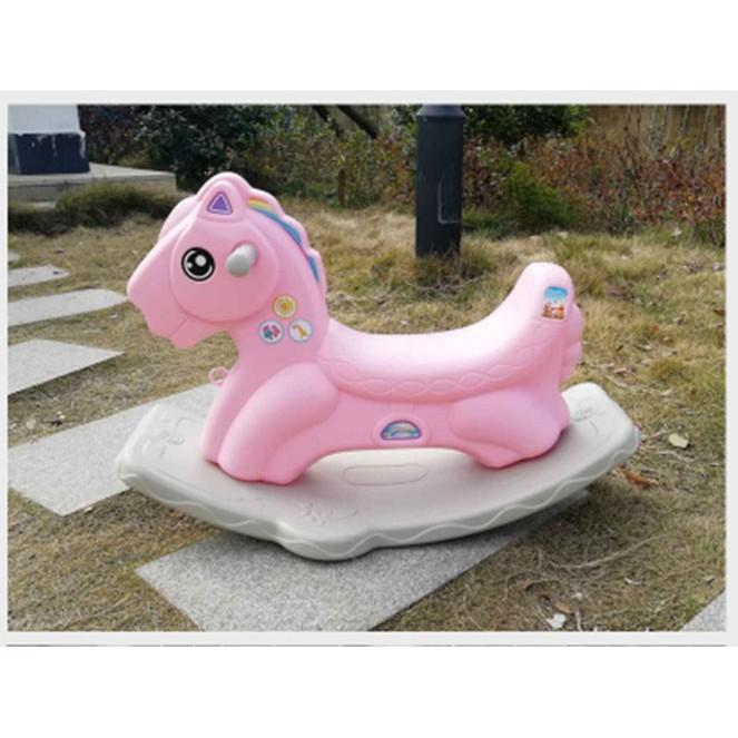 Ngựa bập bênh cho bé yêu - màu xanh