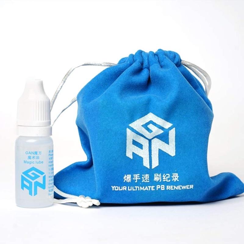 Bộ Phụ kiện Rubik Gan lube 10 ml và túi rubik Gan