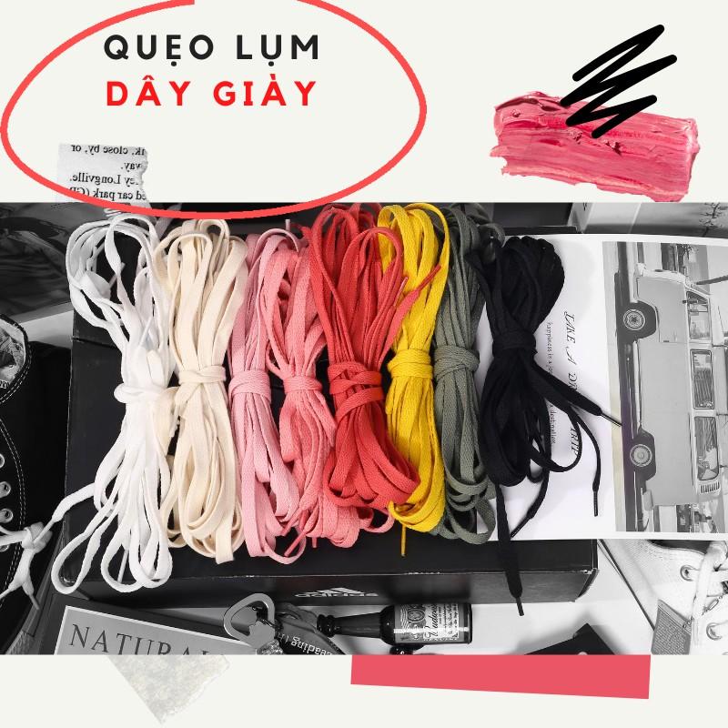 Dây Giày Thể Thao Bản Dẹp 120cm bằng vải nhiều màu sắc có thể buộc giày thể thao, bata, boots.