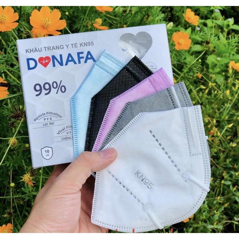Khẩu trang y tế KN95 Donafa - set hộp 10 cái