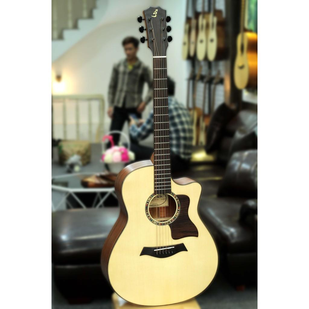 Đàn Guitar Acoustic Ba Đờn Taylor T350+ Tặng bao da +capo + pic + ty chỉnh cần