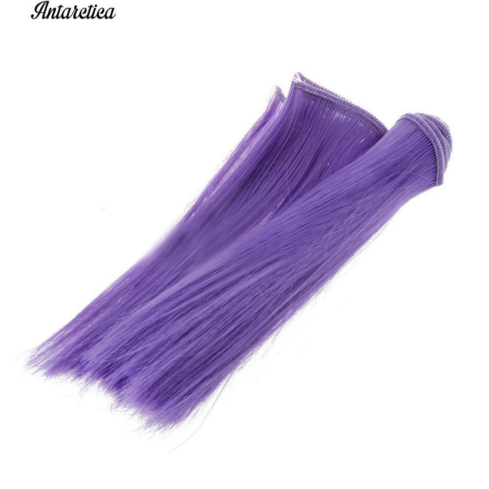 Tóc giả thẳng nhiều màu dài 15cm thời trang cho búp bê