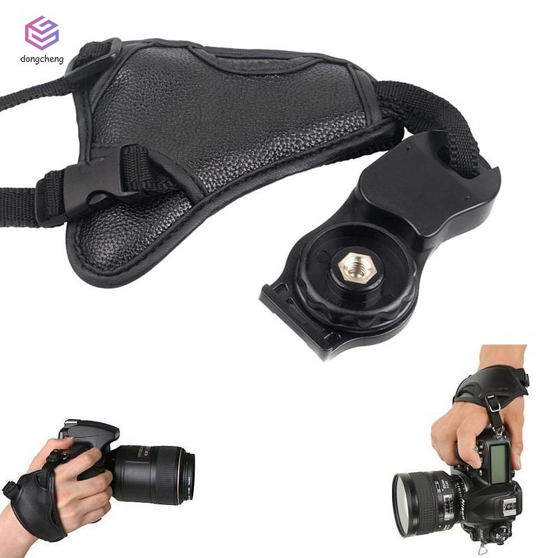 Leather DSLR Camera Grip Wrist Hand Strap for Canon Nikon Sony Pentax