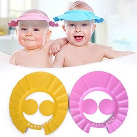 Mũ tắm nước có vành tai cho bé đảm bảo an toàn vệ sinh sạch sẽ