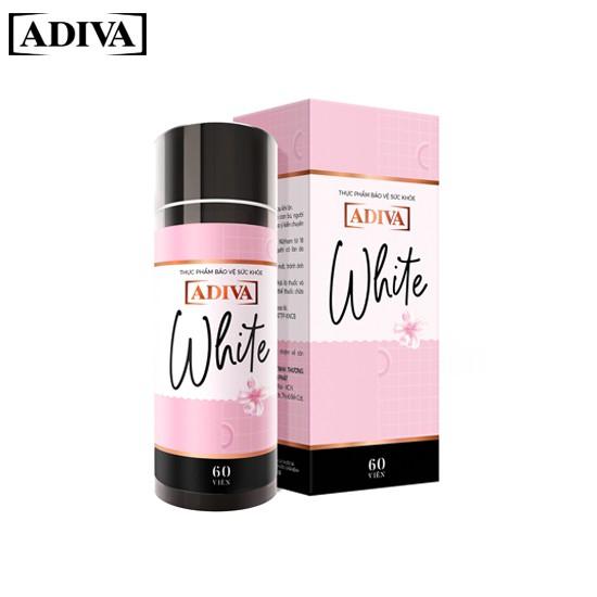 Adiva White Hộp 60 Viên - Dưỡng chất uống làm sáng da và chống nắng