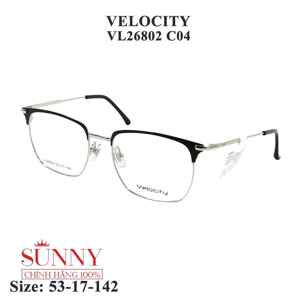 VL26802 – gọng kính kim loại Velocity chính hãng, bảo hành toàn quốc