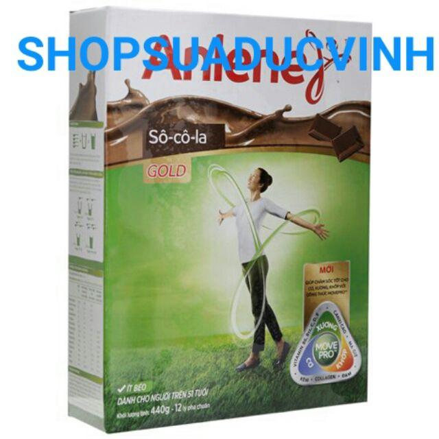 Sữa bột Anlene Movepro Gold Socola 440g date 03,04/2019 (trên 51 tuổi) hộp giấy 400g