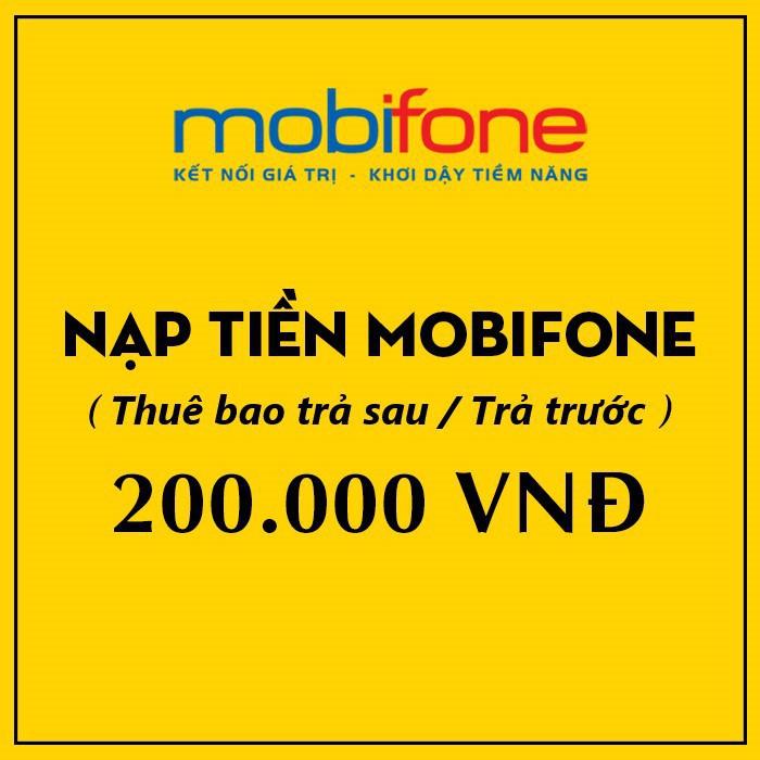 THẺ CÀO MOBIFONE 200K - Thẻ Cào 247
