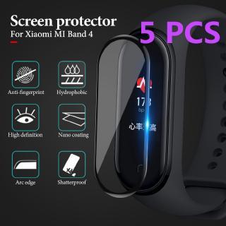 Set 5 Kính Cường Lực 3d Bảo Vệ Màn Hình Cho Xiaomi Mi Band 4