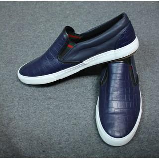 Giày Da Lười Nam Giá Rẻ Màu Xanh Than