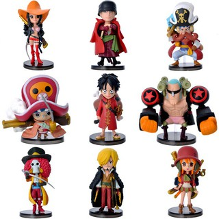【9 PCs Set】 One Piece Luffy Zoro Action Figures Figurine Kids Collection Boy Toy