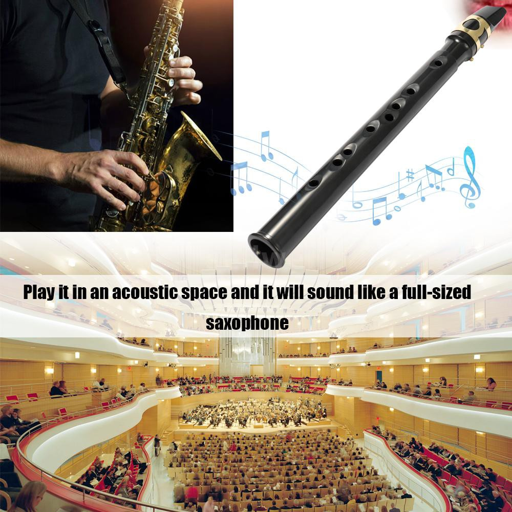 Black Pocket Sax Mini Portable Saxophone Little Saxophone With Carrying Bag Woodwind Instrument