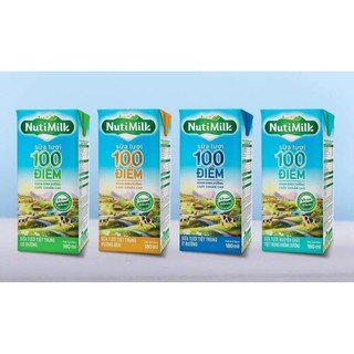 Lốc 4 hộp sữa Nutifood đường đen 180ml