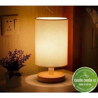 Đèn ngủ để bàn chân gỗ tự nhiên (KÈM BÓNG LED) có sẵn
