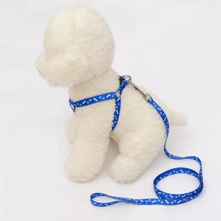 Dây dắt chó mèo (1 lớp) dây yếm đai yên ngựa nhỏ xinh cho chó mèo dưới 7kg (2 size)