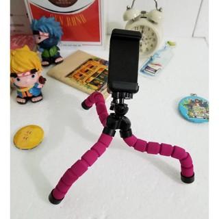 Gậy chụp hình/ Gậy selfie/Giá kẹp điện thoại/Tripod Giữ Điện Thoại – Gecko Tripod – HỒNG