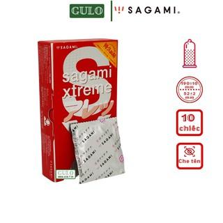 Bao cao su Sagami Feel Long Dotty G Siêu mỏng gai chống tuột kéo dài thời gian Hộp 10 thumbnail