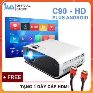 Yêu Thích[Độ sáng cao 3000 lumen] Máy chiếu AUN HD C90 - Độ phân giải thực chuẩn HD - Kết nối điện thoại, laptop - Công suất 90w