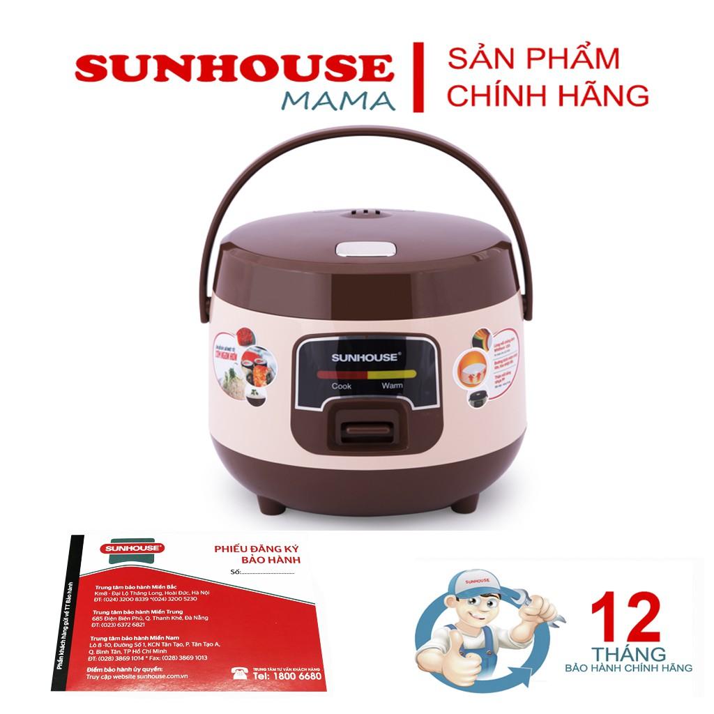 Nồi cơm điện 1L sunhouse SHD8208c - Bảo hành chính hãng 12 tháng