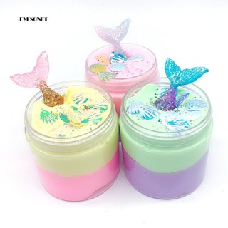 ♕100ml Mermaid Shell Multicolor Slime Putty Plasticine Sludge Stress Relief Toy