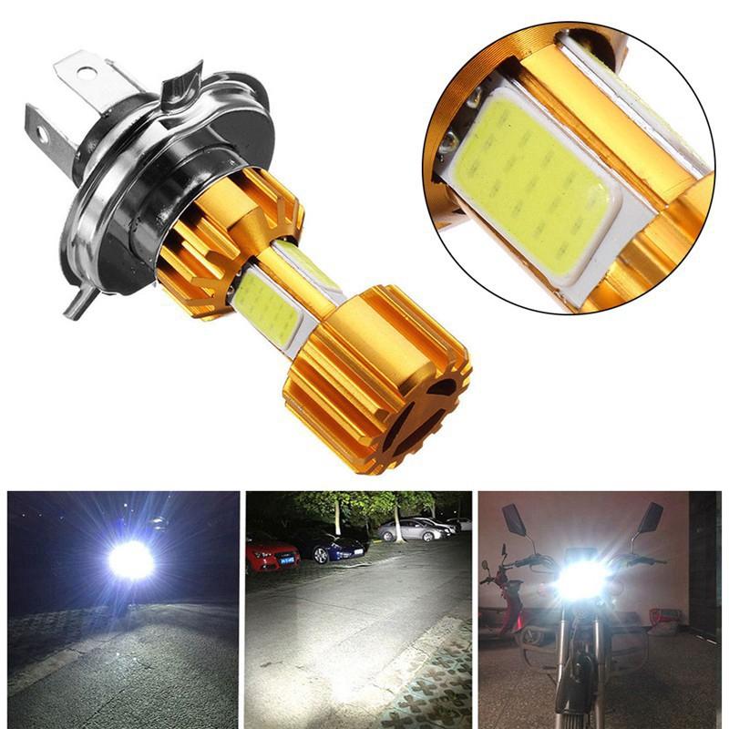 Đèn Pha LED H4 H6 6000k 18w Hi/Lo Cob 2000lm Cho Xe Máy