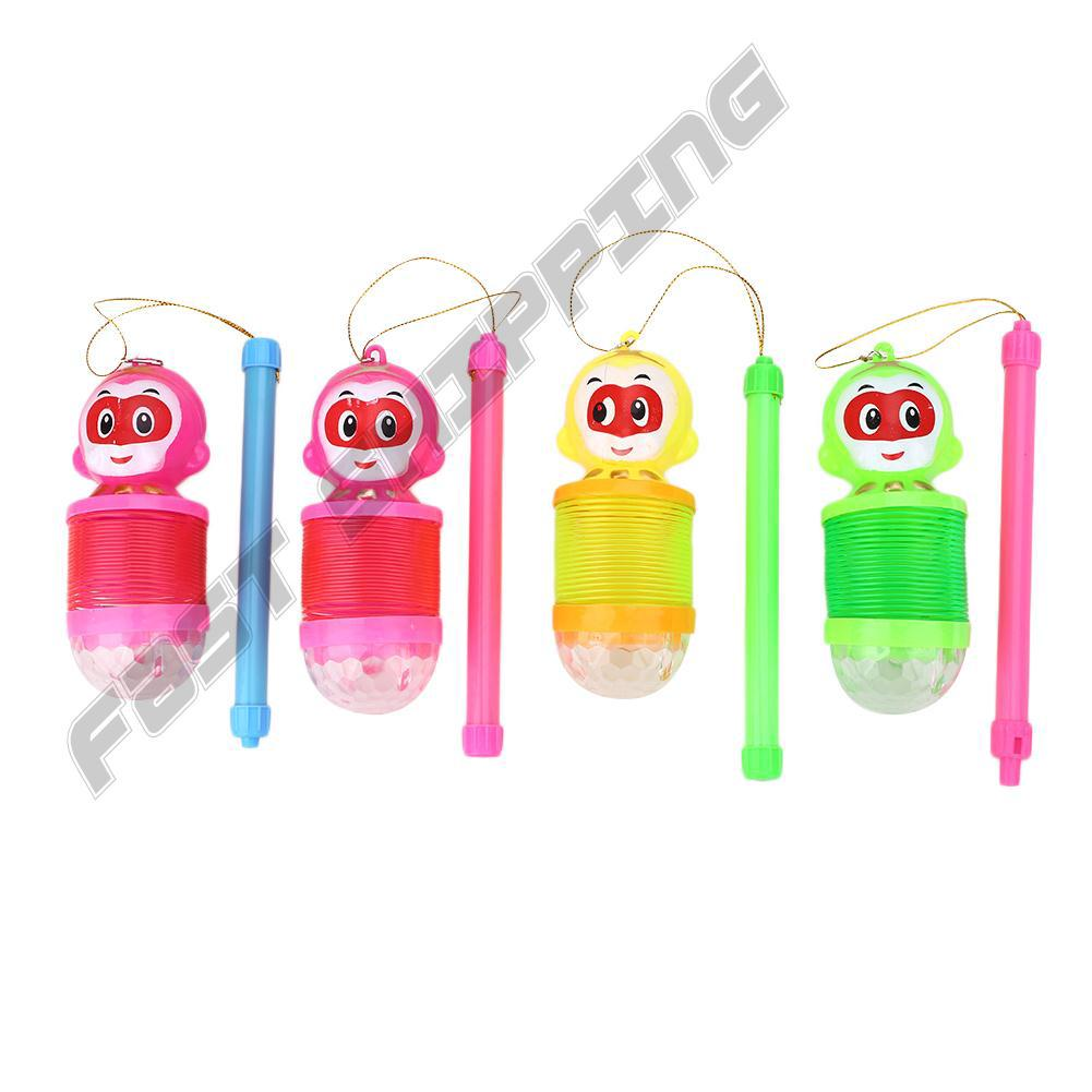 Mini Lantern Electronic Rainbow Spring Ring Extension Projection Kids Toy