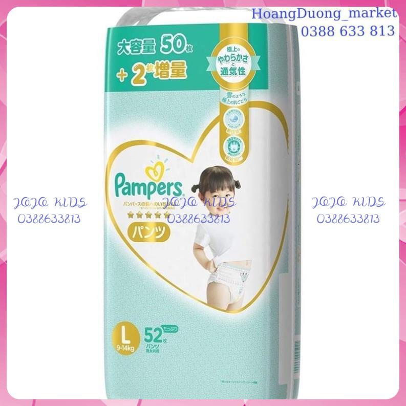 (Cộng Miếng)Bỉm Pamper Nhật nội đại quần/dán Nb90/S82/L54/M66/L52/XL48...