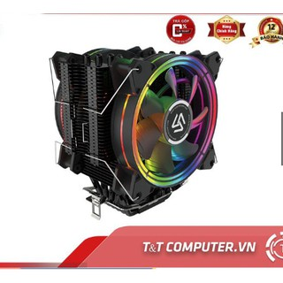 Tản nhiệt khí CPU ALSEYE H120D cao cấp ống đồng 2 fan led RGB tương thích AMD INTEL