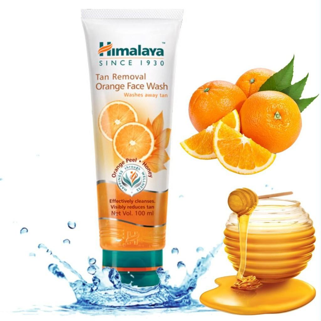 Sữa rửa mặt trị thâm nám, sáng da Cam Mật Ong Himalaya Tan Removal Orange  Face Wash Ấn Độ   Shopee Việt Nam