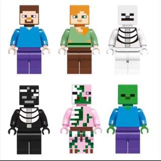 đồ chơi lego nhân vật giống minifigure minecraft 6 nhân vật