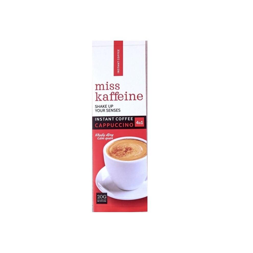 01 gói Cà phê hòa tan MISS KAFFEINE 4in1 - Cà phê Cappuccino có đường - The Kaffeine Coffee