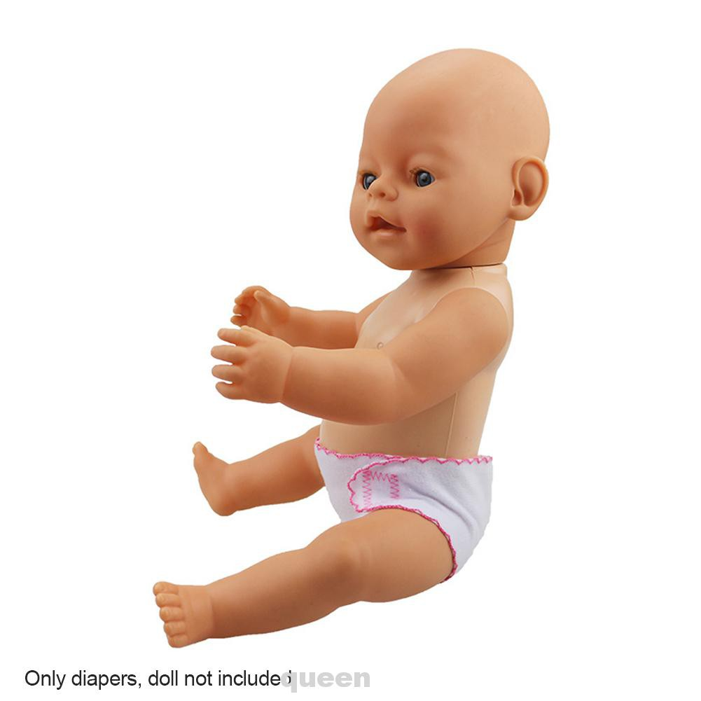 2pcs/set 18inch Solid Adjustable Comfortable Washable Cloth Kids Toy Role Play Baby Doll Diapers