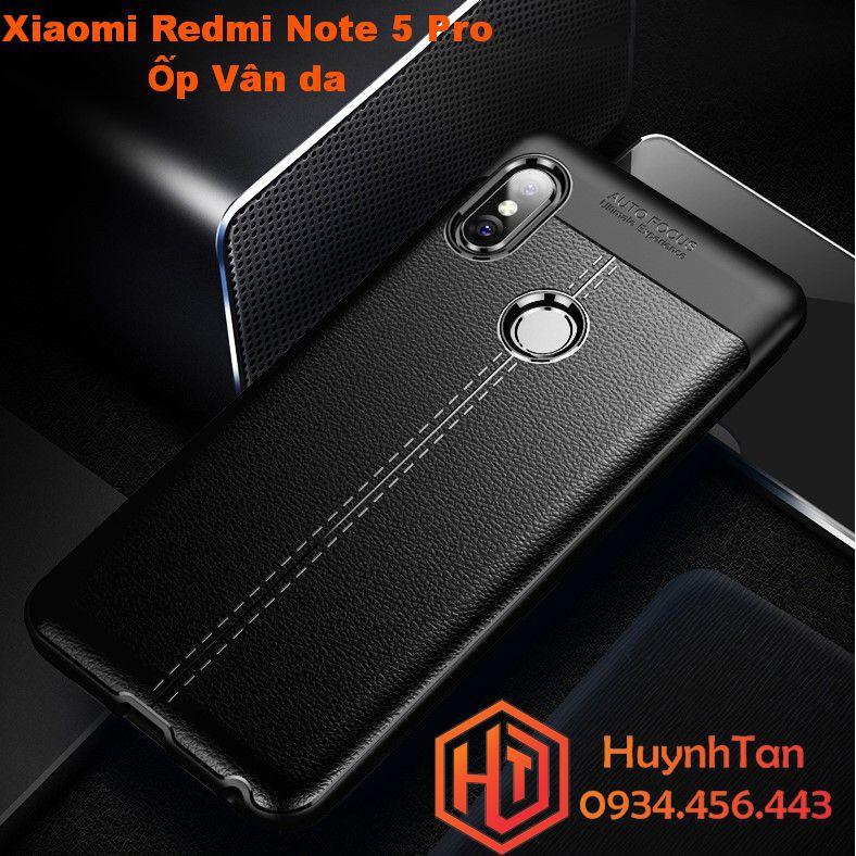 Ốp lưng Xiaomi Redmi Note 5 / Note 5 Pro vân da dẻo mỏng (màu đen)