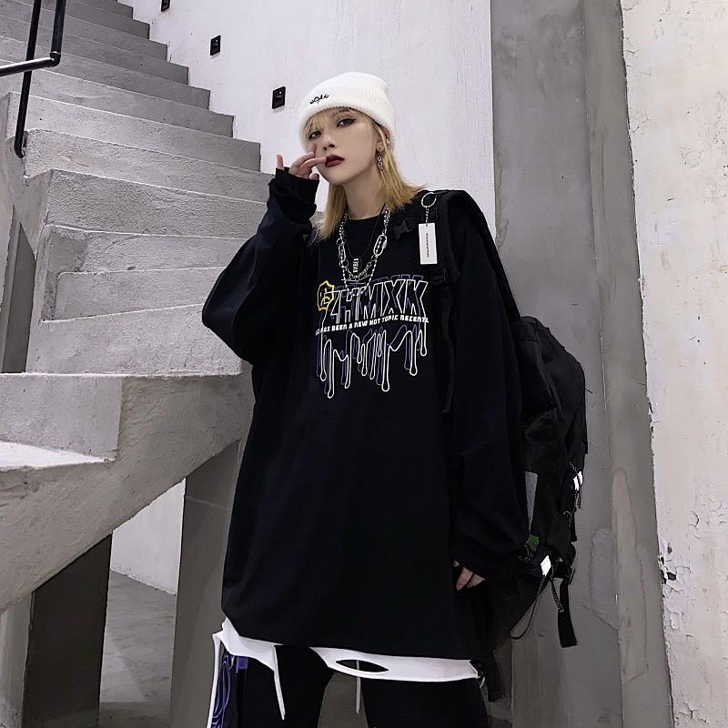 Áo thun tay dài form rộng ZHMXK NEKO.SG, Áo thun Streetwear ulzzang SWT26