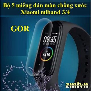 Bộ 5 miếng dán GOR dành cho Xiaomi miband 3 miband 4