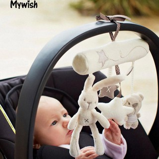 👶🏼Soft Plush Activity Crib Stroller Baby Toys Hanging Rabbit Star Shape Toy