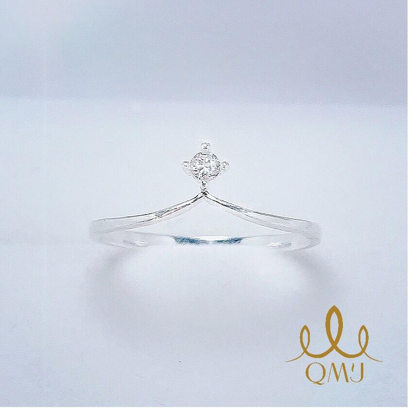 Nhẫn bạc QMJ Vương Miện đơn giản bản mỏng - bạc 925 cao cấp, nhẫn nữ trơn thời trang đẹp QN008