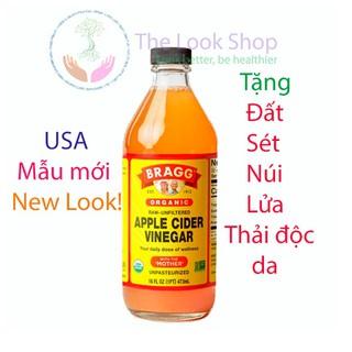 Bragg USA- Giấm táo hữu cơ Bragg Apple Cider Vinegar- Nhập khẩu chính ngạch từ Mỹ