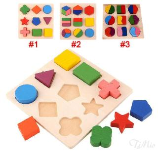 Kids Baby Learning Wooden Geometry Educational Toys Puzzle Montessori HCXM 786