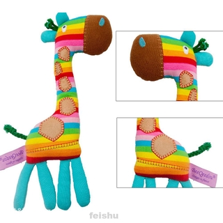 Tony Lvee Baby Rattle Rainbow Color Giraffe Shape Infant Handbell Funny Early Educational Toy