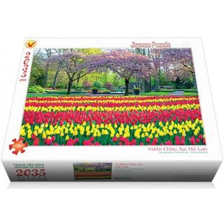 Bộ tranh xếp hình jigsaw puzzle 2035 mảnh – Vườn Châu Âu, Hà Lan