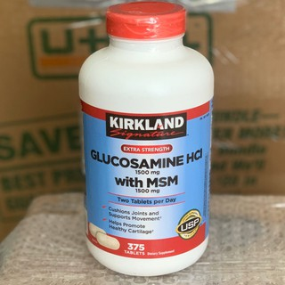 ⊕Viên Uống Glucosamin Kirkland 375 Viên- Glucosamine Kirkland Mẫu Mới từ Mỹ ( 2024 )