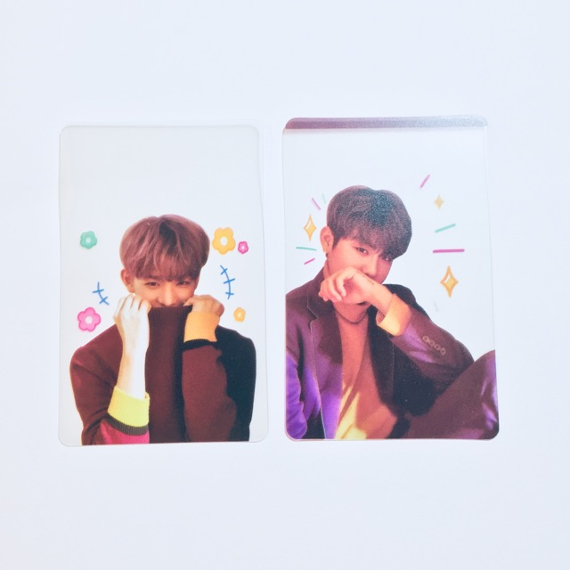Card trong bo góc Wanna One album 0+1=1 I Promise You IPU unofficial