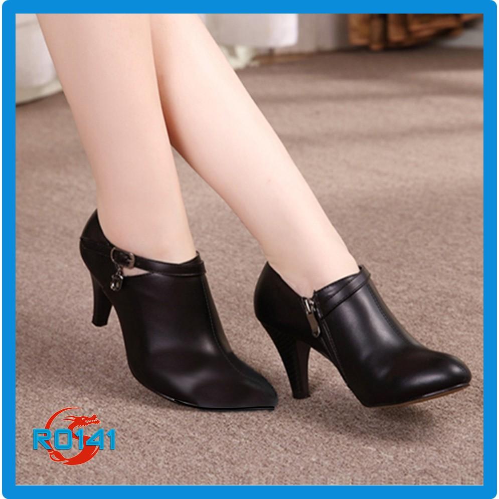 Giày bốt boot nữ đẹp Rosata cách điệu RO141