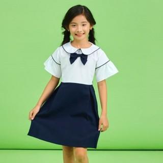 Đầm đồng phục học sinh đi học cho bé gái cotton 100% sợi tự nhiên, chất vải mềm thấm hút mồ hôi, ít nhăn Jadiny